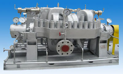 Horizontal axial split,multi-stage pump